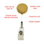 US Army Military Retractable Security ID Holder Badge Reel