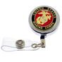 US Marine Corps Military Retractable ID Holder Badge Reel