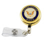 US Navy Military Retractable Security ID Holder Badge Reel