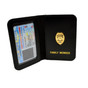 Police Officer Family Member Badge Leather ID Wallet Case