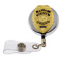 Police Officer Mini Badge Blue Line Retractable ID Holder Badge Reel