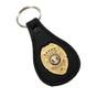 Private Investigator Mini Badge Leather Key Ring