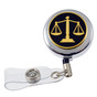Scales of Justice Lawyer Retractable ID Holder Reel