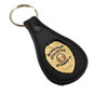 Security Enforcement Officer Badge Leather Key Ring