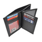 U S Courts Officer Leather Badge Wallet with Double ID Holders