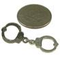 Silver Handcuff Lapel Pin