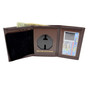 NYSP New York State Police Tri Fold Black Leather Badge Wallet