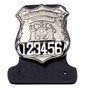 NYPD Police Uniform Leather Badge Backer and Nameplate Holder