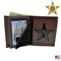 Ohio Sheriff 5 Point Star Badge Wallet Leather Perfect Fit 104