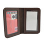Perfect Fit Duty Leather Double ID Credential Case Brown