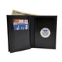 Challenge Coin Holder Double ID Leather Wallet