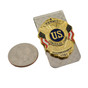 Concealed Carry Permit 2ND Amendment Money Clip Silver