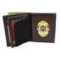 Concealed Carry Badge and Bi-fold Men's Leather Wallet Brown