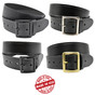 "Perfect Fit 1.5"" Top Grain Leather Garrison Belt"