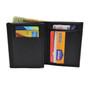 CDCR California Corrections Officer Bi Fold Black Leather Flat Badge Wallet