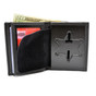 Illinois State Police Recessed Police Badge Leather Wallet -6 PT Star
