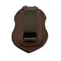 Homeland Security ICE HSI Badge Shape Recessed Belt Clip Tactical Badge Holder