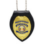 Cobra Tufskin Universal Teardrop Leather Clip On Badge Holder