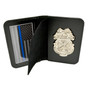 Army Military Police MP Badge and Credential Case - Nickel Badge