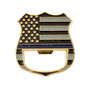 Blue Line Challenge Coin Bottle Opener Police Subdued Flag Church Key