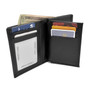 Black leather with credit card slots
