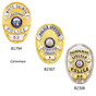 LAPD Oval Police Badge Recessed Cut Neck Badge Holder ID Case