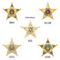 Ohio Sheriff 5 Point Star Neck Badge and ID holder with Chain