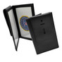 Dress Leather Book Style Double ID Case w / Badge Flap