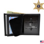 Sheriff Badge Wallet - 6 Point Star - Top Banner - B956