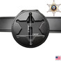 6 Point Star Belt Clip Badge Holder with Pocket and Chain - B812 S534