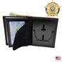 Circle Star Hidden Badge Wallet - S527