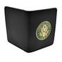 Perfect Fit Double ID Duty Leather ID License Case - ARMY GREEN MEDALLION
