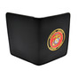 Perfect Fit Double ID Duty Leather ID License Case - Marine Corps Medallion