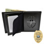 """Perfect Fit 2.5"""" Eagle Top Badge Wallet - Police - Fireman - B957 - S93"""