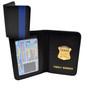 Thin Blue Line Boston Police Mini Badge Family Member Wallet