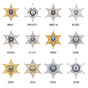 6 Point County Sheriff Star Bi Fold Recessed Badge Wallet - B667 - S240
