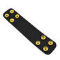 1.75 Inch Double Wide Leather Belt Keeper - Basketweave