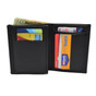 "3"" Eagle Top Bi Fold Recessed Badge Wallet - B296 - S155"