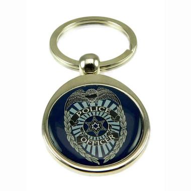 Police Officer Badge Steel Key Ring | Police Key Tag ...