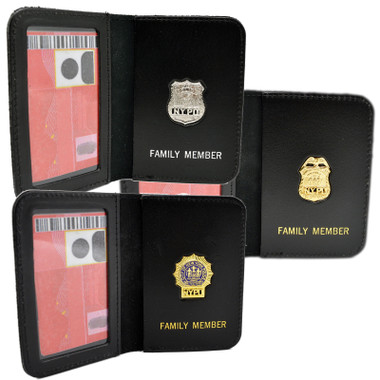 New York City Detective  Plain Thin Blue Line Member Mini Pin Wallet And ID