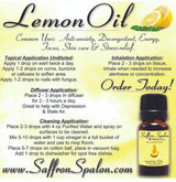 Lemon Essential Oil • 100% Pure, Natural & Therapeutic Grade • Common Uses:  Skin care, stress-relief, anti-anxiety, energy, focus, decongestant