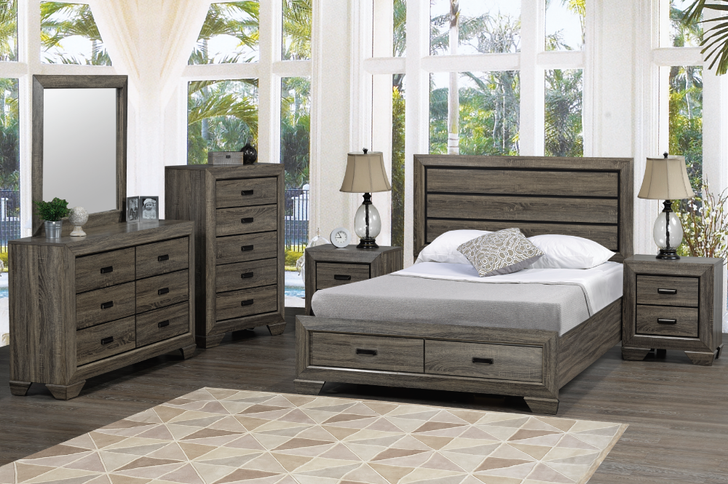 Jenna Bedroom Suites Double Dressers with Mirrors
