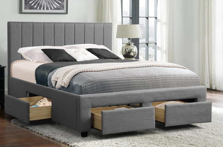 Platform Bed with Storage Drawers.
