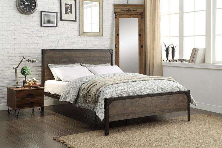 Alpine Wood & Metal Bed