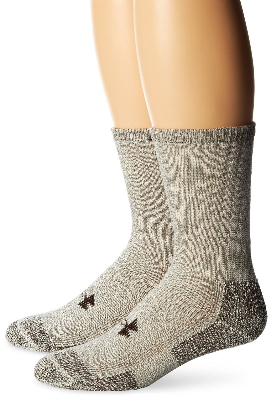 978659a34 Under Armour Men's ColdGear Boot Crew 2-Pack Socks | Free Shipping on All  Orders