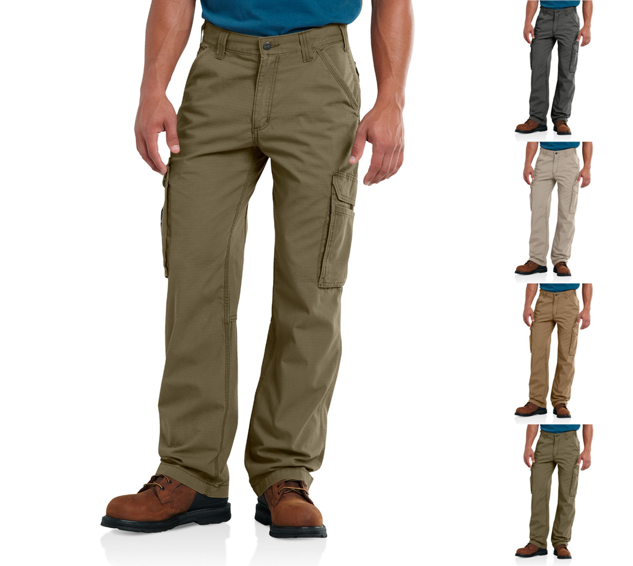 CARHARTT Men's FORCE Relaxed Fit Pants 40x30 Green