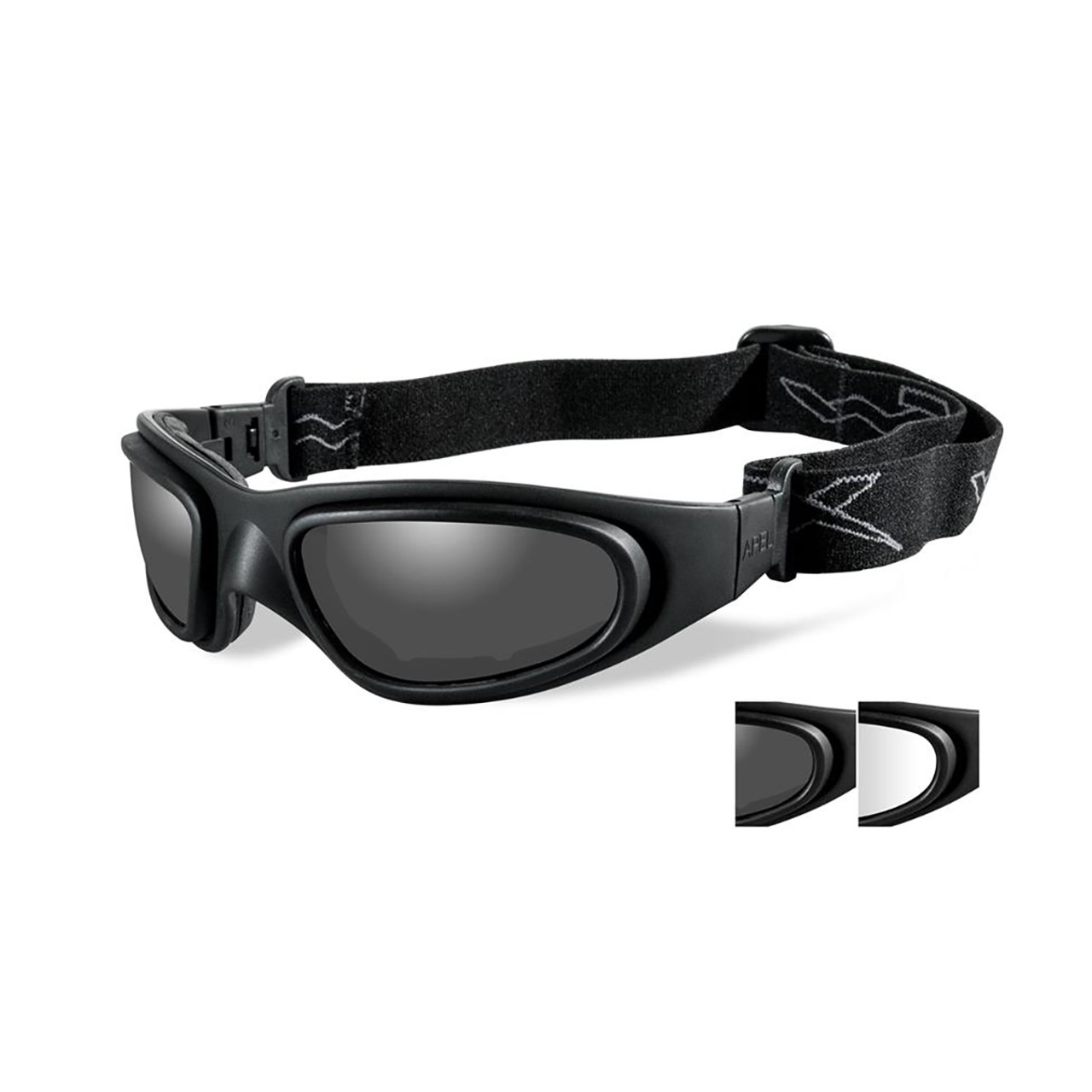 bf05d1175115 Wiley X SG-1-71 Grey/Clear Lenses Matte Black Frame Tactical Goggles | Free  Shipping on All Orders