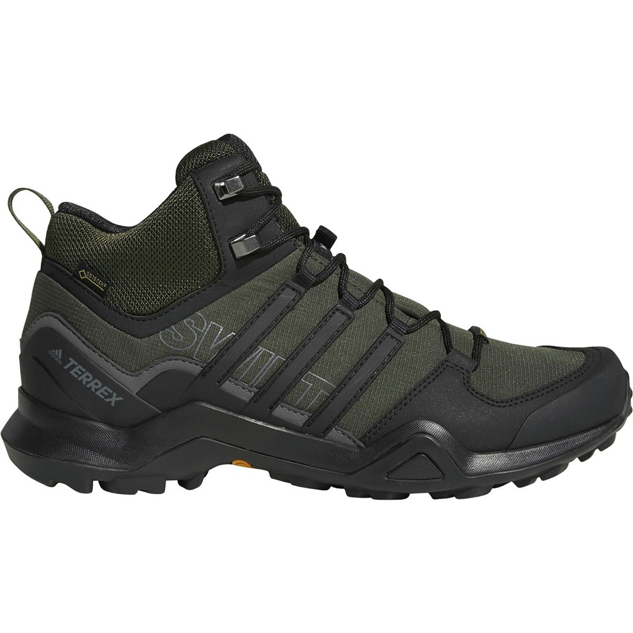 ff9328508da8 Adidas AC7772 Men s Terrex Swift R2 Mid GTX Hiking Black Shoes ...