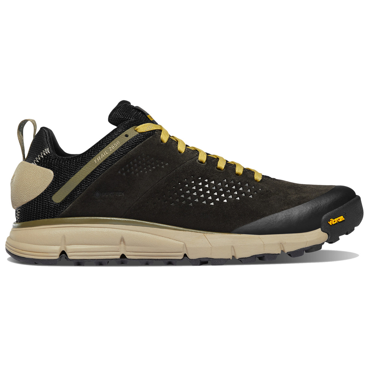 Danner 61287 Men/'s Trail 2650 GTX Black Olive//Flax Yellow GTX WP Hiking Shoes