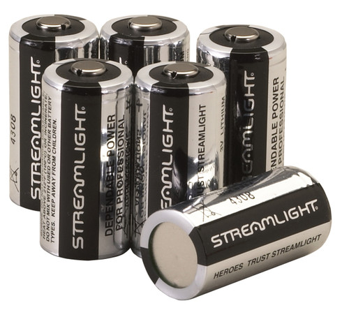 The Streamlight CR123A Lithium batteries are engineered for use in modern, high drain flashlights. These 3 Volt lithium batteries have a much longer shelf life than conventional alkaline batteries. Always have replacement batteries on hand because you never know when you will need them.